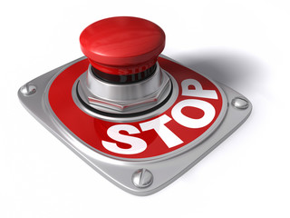 Stop button over white.