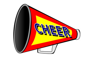 A Cheerleader megaphone on white