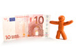 Plasticine man and money