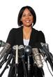 Woman Behind Microphones
