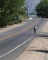 Solitary bike ride