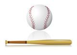 minge şi bâtă de baseball