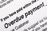 Overdue payment bill poster