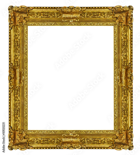 Cadre tableau dor photo libre de droits sur la banque d for Image de cadre de tableau