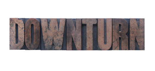 downturn in old wood type