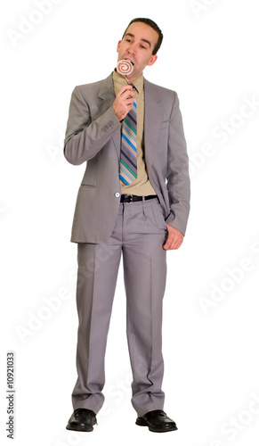 Businessman Eating Candy