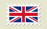 United Kingdom Flag Stamp poster