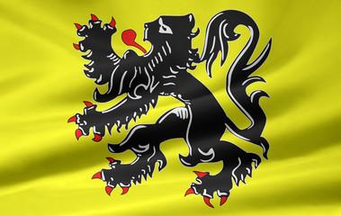 Flagge der flämischen Gemeinschaft - Belgien