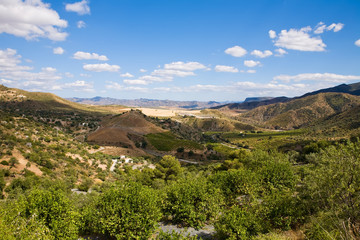 Magnificent panorama of surrounding olive groves in Andalusia