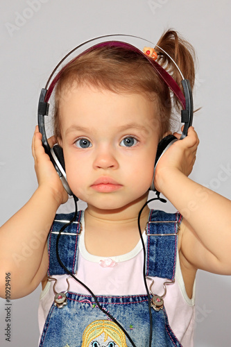 Girl with headsets.