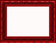 Special Ruby Red Frame - Landscape - Isolated Copyspace