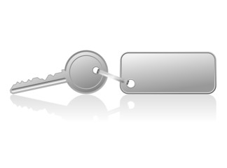 Key with a blank label - vector