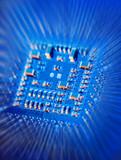 blue microchip poster