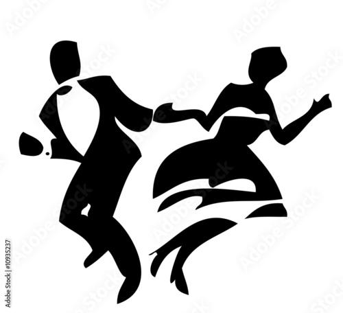 Leinwanddruck Bild Dancers