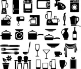 Kitchen ware and home appliances poster