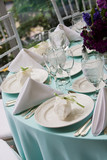 Wedding table with favors poster