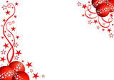 Fototapety Vector red & white christmas ornaments set #2