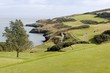 Golf course on a seashore in Wicklow