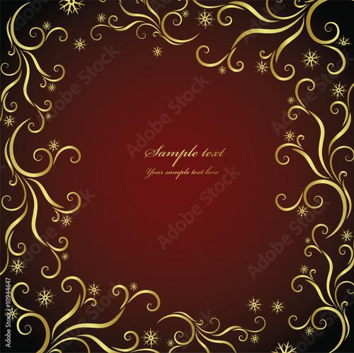 漩涡现代纹理经典红色美丽的背景花叶装饰设计赛季载