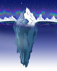 ICEBERG - NIGHTTIME & POLAR LIGHTS