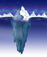 ICEBERG - NIGHTTIME & POLAR LIGHTS