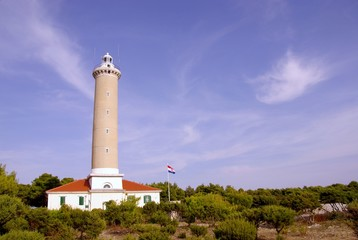 The lighthouse of Veli Rat in Croatia