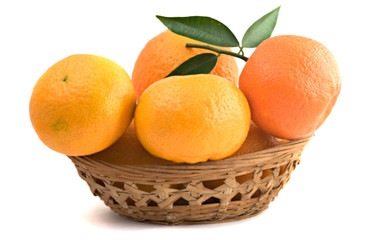 Different cultivars of tangerines in basket