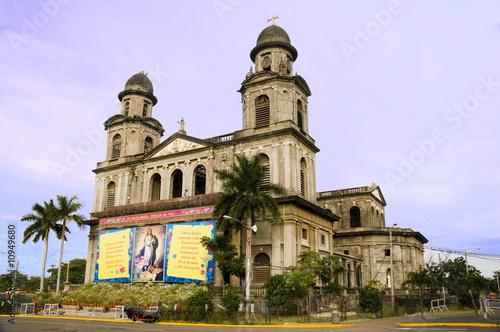 Leinwanddruck Bild Old Cathedral Managua