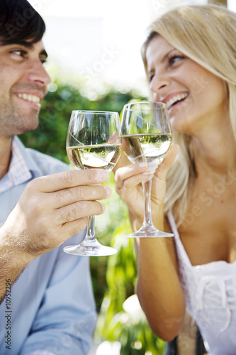 wine in  the garden