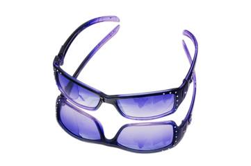 Stylish sunglasses isolated on the white background