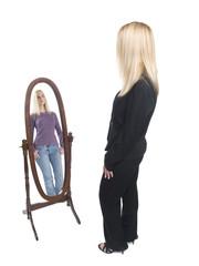 businesswoman - casual mirror