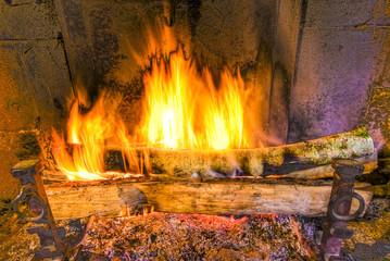 Feu de cheminée - HDR