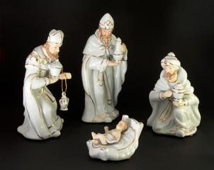 Die heiligen 3 Könige an der Krippe