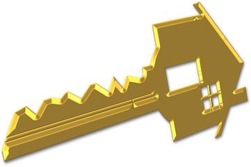 chave de casa em ouro