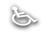 3D Disabled Symbol poster
