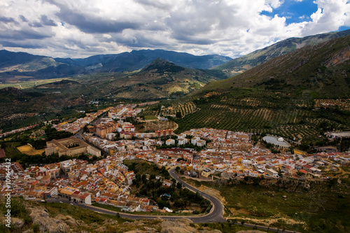 Magnificent panorama of Jaen town in Andalusia