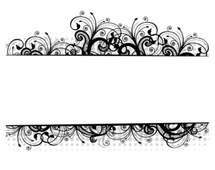 Illustration of a floral border