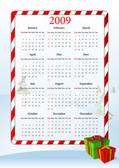 Illustration of American holiday calendar