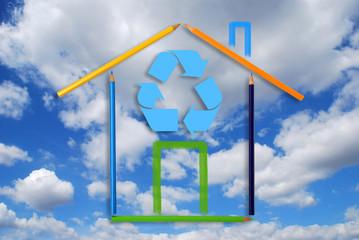 Casa ecologica e riciclo