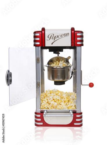 Leinwandbild Motiv Retro Popcorn Machine