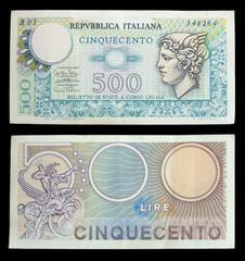 500 lire banconote
