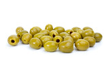 Some green pitted olives poster