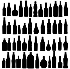 vector illustration of the different bottles