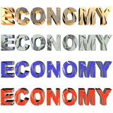 Broken economy in four collors poster