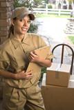 Delivering package poster