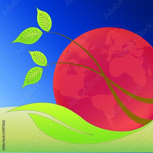imagine conceptual - risk of planet earth