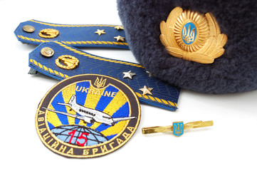 Elements of uniform of Ukrainian military officer (air force)
