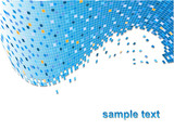 colourful vector background with lots of pixels poster