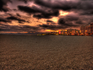 Canet Plage Clouds Night View