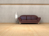 Minimalist interior visualisation. poster